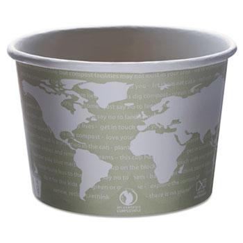 World Art Renewable & Compostable Food Container - 16oz., 25/PK, 20 PK/CT