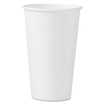 SOLO® Cup Company Polycoated Hot Paper Cups, 16 oz, White
