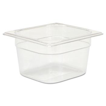 Rubbermaid® Commercial Cold Food Pans, 1 2/3qt, 6 3/8w x 6 7/8d x 4h, Clear