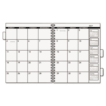 """AT-A-GLANCE® Three/Five-Year Monthly Planner Refill, 9"""" x 11"""", White, 2022"""
