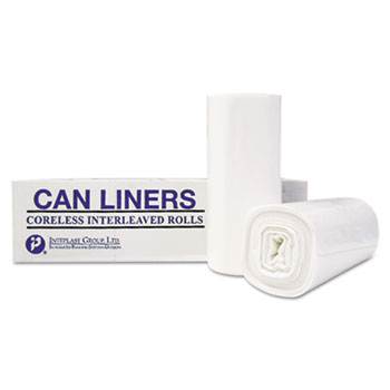 Inteplast Group High-Density Can Liner, 36 x 58, 55-Gallon, 13 Micron Equivalent, Clear, 25/Roll, 8RL/CT