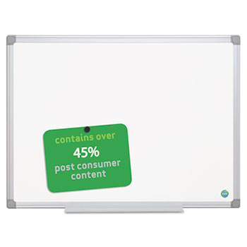 MasterVision® Earth Gold Ultra Magnetic Dry Erase Boards, 48 x 72 White, Aluminum Frame