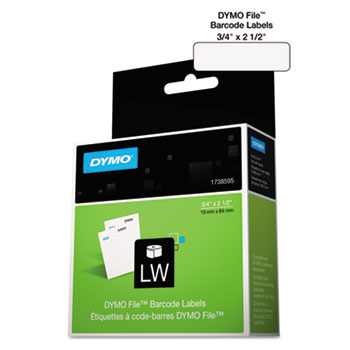 DYMO® LabelWriter Bar Code Labels, 3/4 x 2 1/2, White, 450 Labels/Roll