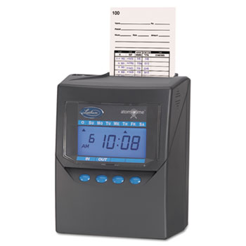 Lathem® Time Totalizing Time Recorder, Gray, Electronic, Automatic