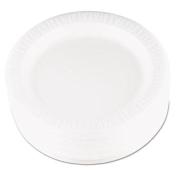"""Dart® Plate, Quiet Classic Laminated Foam 9"""", White, 125/PK, 4 Packs/CT"""