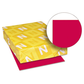 """Color Paper, 8 1/2"""" x 11"""", 24 lb./89 gsm., Re-Entry Red™, 500/RM"""