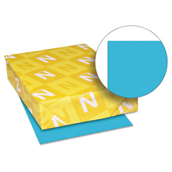 "Astrobrights® Color Paper, 8 1/2"" x 11"", 24 lb./89 gsm., Lunar Blue™, 500/RM"