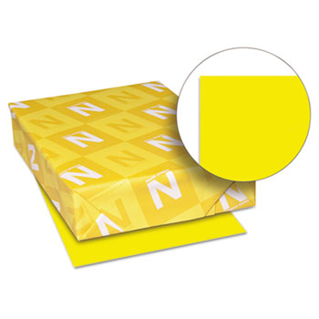 "Astrobrights® Colored Paper, 8 1/2"" x 11"", 24 lb./89 gsm., Solar Yellow™, 500/RM"
