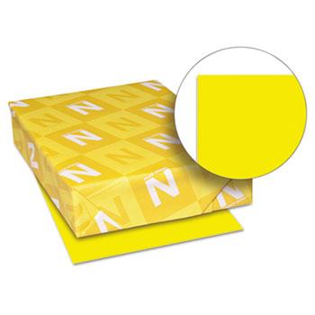 "Colored Cardstock, 8 1/2"" x 11"", 65 lb./176 gsm., Solar Yellow™, 250/PK"