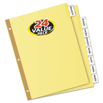 Avery® Big Tab™ Insertable Dividers, 8-Tab Set, Value Pack, 24/BX