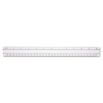 "Westcott® 12"" Magnifying Ruler, Plastic, Clear"