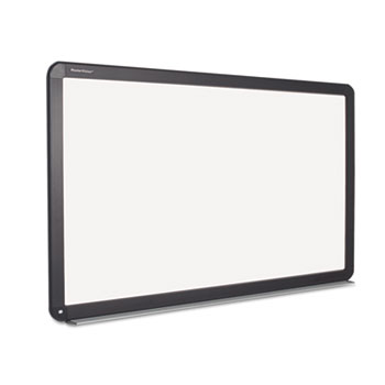 MasterVision® Interactive Magnetic Dry Erase Board, 90 x 52 7/10 x 4 1/5, White/Black Frame