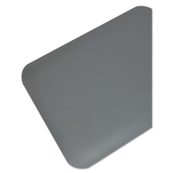 Guardian Pro Top Anti-Fatigue Mat, PVC Foam/Solid PVC, 36 x 60, Gray