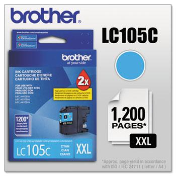 Brother LC105C Innobella Super High-Yield Ink, Cyan