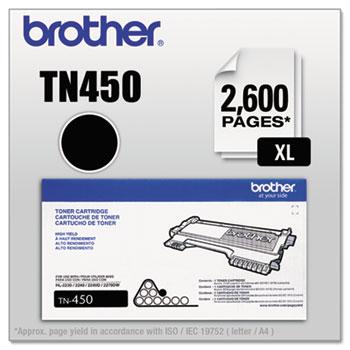 TN450 High-Yield Toner, Black