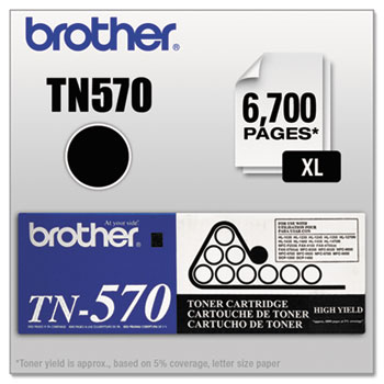 Brother TN570 High-Yield Toner, Black