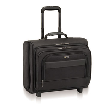 """Solo Classic Rolling Overnighter Case, 15.6"""", 16 1/2 x 6 1/2 x 13, Ballistic Poly, BK"""