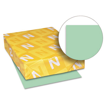 "Neenah Paper Exact Vellum Bristol Cover Stock, 67 lb./147 gsm., 8 1/2"" x 11"", Green, 250 SHTS/PK"
