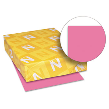 "Astrobrights® Colored Cardstock, 8 1/2"" x 11"", 65 lb./176 gsm., Plasma Pink™, 250/PK"
