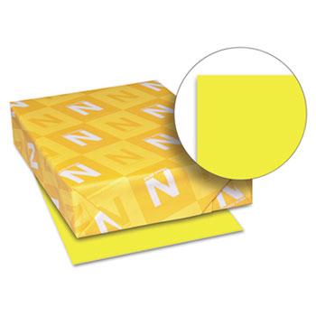 "Astrobrights® Color Paper, 8 1/2"" x 11"", 24 lb./89 gsm., Lift-Off Lemon™, 500/RM"