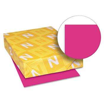 "Astrobrights® Colored Cardstock, 8 1/2"" x 11"", 65 lb./176 gsm., Fireball Fuschia™, 250/PK"