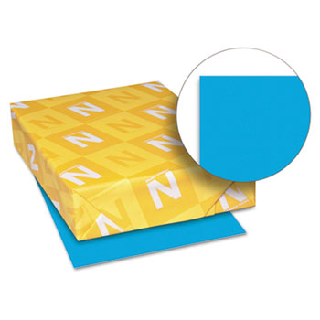 "Astrobrights® Color Paper, 8 1/2"" x 11"", 24 lb./89 gsm., Celestial Blue®, 500/RM"