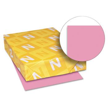 "Astrobrights® Colored Cardstock, 8 1/2"" x 11"", 65 lb./176 gsm., Pulsar Pink™, 250/PK"