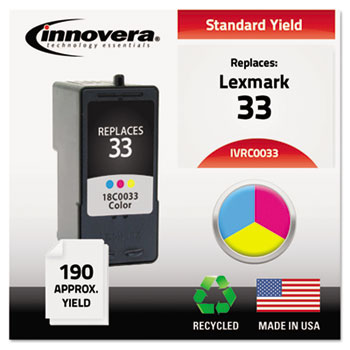 Innovera® Remanufactured 18C0033 (33) Ink, Tri-Color
