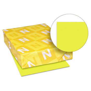 "Astrobrights® Colored Cardstock, 8 1/2"" x 11"", 65 lb./176 gsm., Sunburst Yellow™, 250/PK"