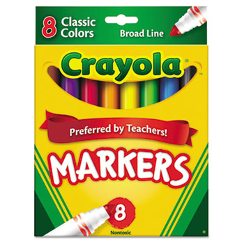 Crayola® ColorMax™ Classic Markers, Broad Line, 8/ST