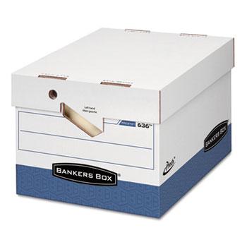PRESTO Maximum Strength Storage Box, Ltr/Lgl, 12 x 15 x 10, White, 12/Carton