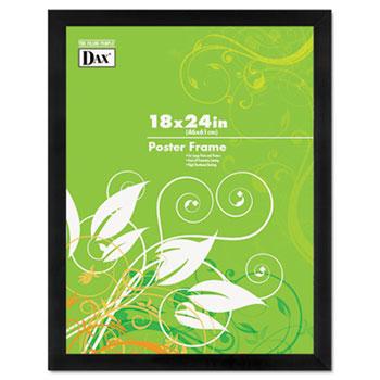 DAX® Black Solid Wood Poster Frames w/Plastic Window, Wide Profile, 18 x 24