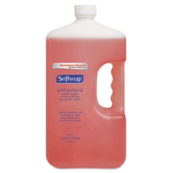 Antibacterial Hand Soap, Crisp Clean, Pink, 1 gal. Bottle