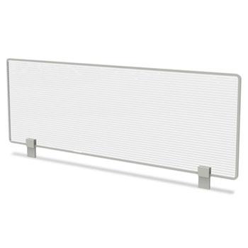 Linea Italia® Trento Line Dividing Panel, Polycarbonate, 47-1/8 W x 1 3/4 D x 15-1/2 H, Translucent