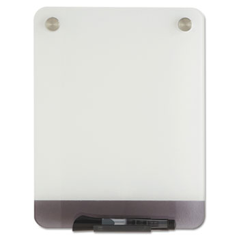Iceberg Clarity Glass Personal Dry Erase Boards, Ultra-White Backing, 9 x 12