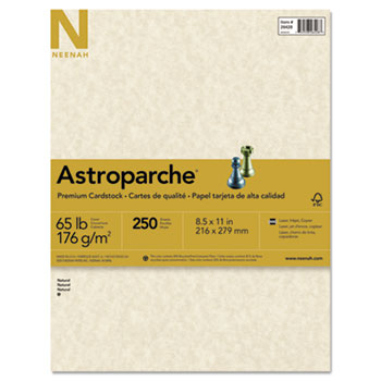 Neenah Paper Astroparche® Specialty Card Stock, 65 lbs., 8-1/2 x 11, Natural, 250 Sheets/Pack