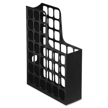 Pendaflex® DecoFile Plastic Magazine File, 3 x 9 1/2 x 12 1/2, Black