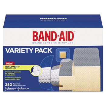 Sheer & Wet-Flex Adhesive Bandages, Assorted Sizes, 280/Box