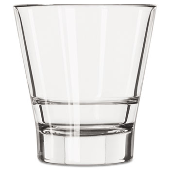 Endeavor Rocks Glasses, 12 oz, Clear, Double Old Fashioned Glass, 12/Carton