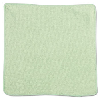 Rubbermaid® Commercial Microfiber Cleaning Cloths, 12 x 12, Green, 24/Pack