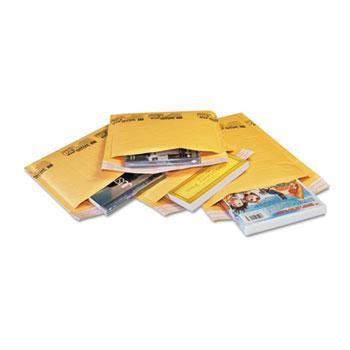 Sealed Air Jiffylite Self-Seal Mailer, Contemporary Seam, 10.5 x 16, Golden Brown, 80/Carton