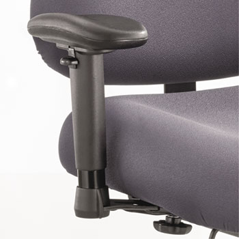 Height/Width-Adjustable T-Pad Arms for Optimus Big & Tall Chairs, Black, 1 Pair