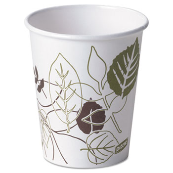 Pathways Paper Hot Cups, 10 oz (Fits Large Lids), 1000/Carton