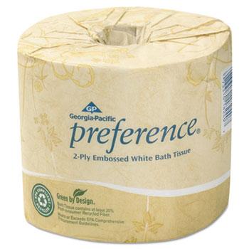 Embossed 2-Ply Bathroom Tissue, 550 Sheet/Roll, 80 Rolls/Carton