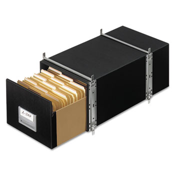 Bankers Box® STAXONSTEEL Storage Box Drawer, Legal, Steel Frame, Black, 6/Carton