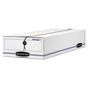 LIBERTY Check/Deposit Slip Storage Box, 9 x 23 x 4, White/Blue, 12/Carton