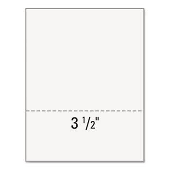 "Office Paper, Perforated 3-1/2"" From Bottom, 8-1/2 x 11, 20-lb., 5 RM/ CT"