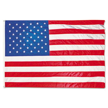 Advantus All-Weather Outdoor U.S. Flag, Heavyweight Nylon, 4 ft x 6 ft