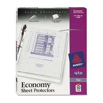Economy Clear Sheet Protectors, Acid-Free, 50/BX
