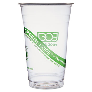 Eco-Products® GreenStripe Renewable & Compostable Cold Cups - 20oz., 50/PK, 20 PK/CT